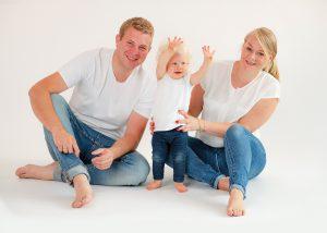 Familienfoto Eltern Kind